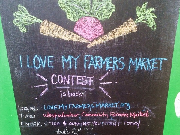 Go to LoveMyFarmersMarket.org and vote for your favorite market
