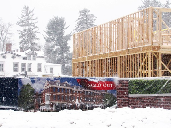 Lafayette Luxury Townhomes sold out as they are being built, on corner of Maple Ave and Miller