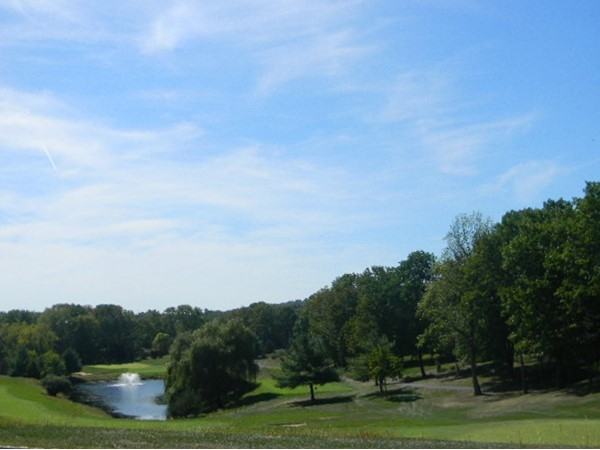 Stanton Ridge Golf Course - Just part of the green with fountain