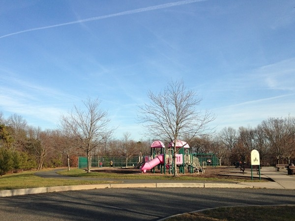 Lenape Park within Windsong Development on a warm winter day