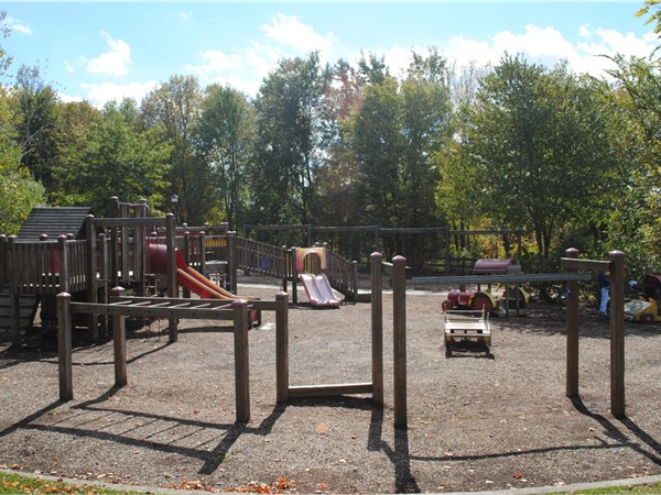 Come out and play!  Love the Montville playground in fall