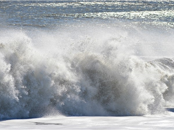 Rough surf from the aftermath of Jonas