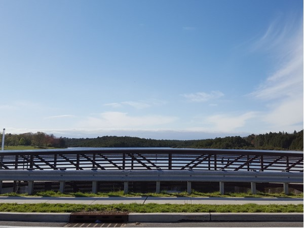 Tuckerton's newly rebuilt bridge over Pohatcong Lake