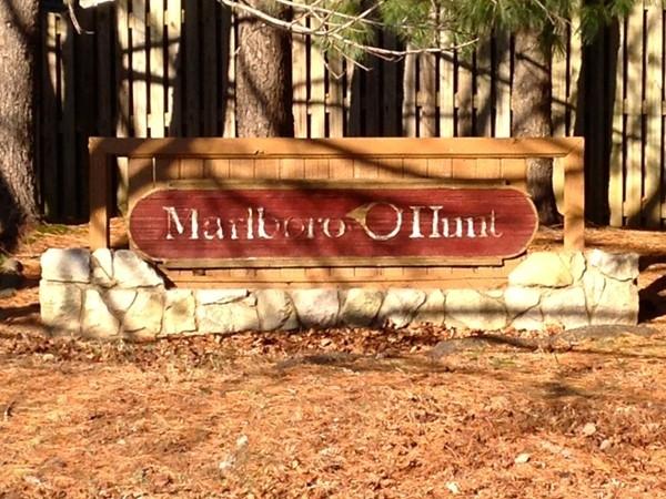 Marlboro Hunt entrance sign