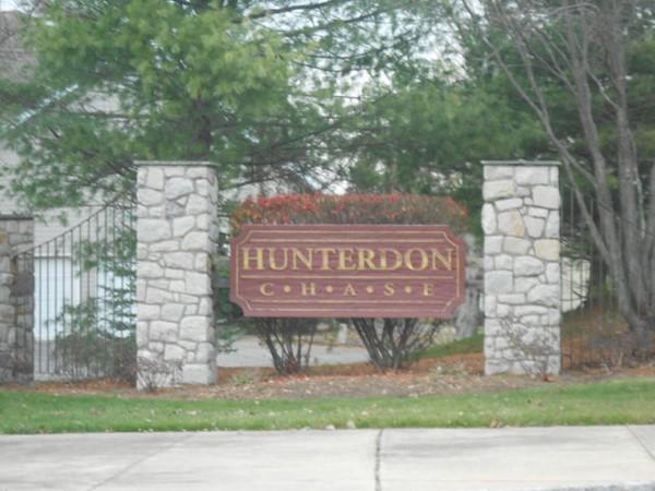 Entrance to Hunterdon Chase development