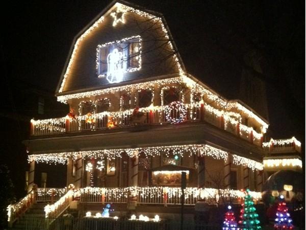 Christmas Spirits are hard to miss on Eldorado Pl of Weehawken