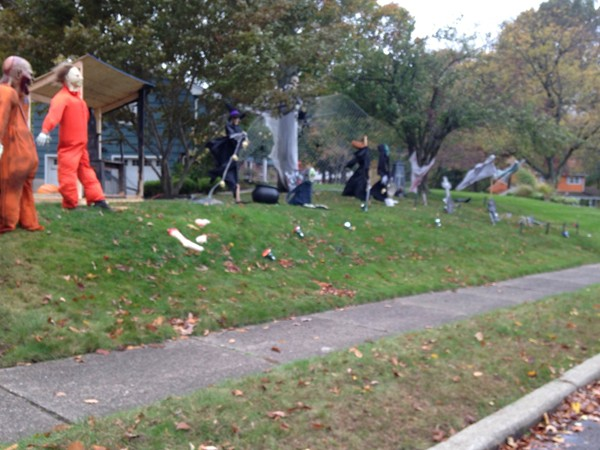 Great Halloween decorations around town
