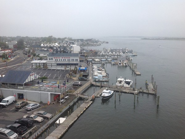 Looking down on Bahrs Restaurant - serving great seafood year round