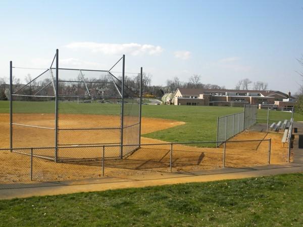 Ballfield next to Mt Horeb Elementary School, located next to walking paths & main Recreation Center