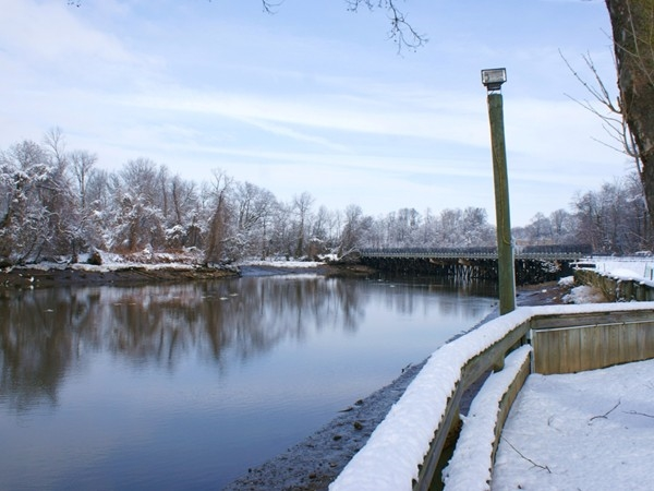 Bordentown's waterfront in winter