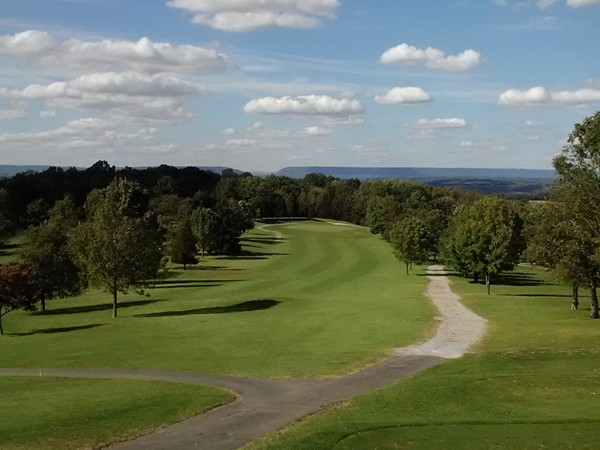 A nice view of the Delaware Water Gap from Apple Mountain Golf Course