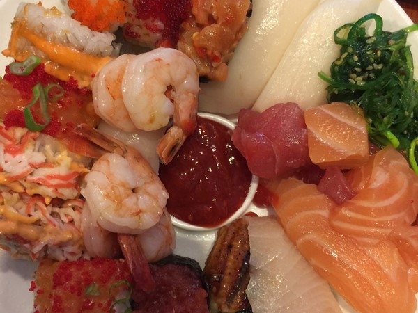 This is the ultimate all you can eat sushi experience at Minado Restaurant!