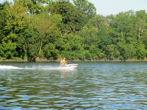 Jet Skiiing on the Delaware River right near George Washington's famous crossing in 1776