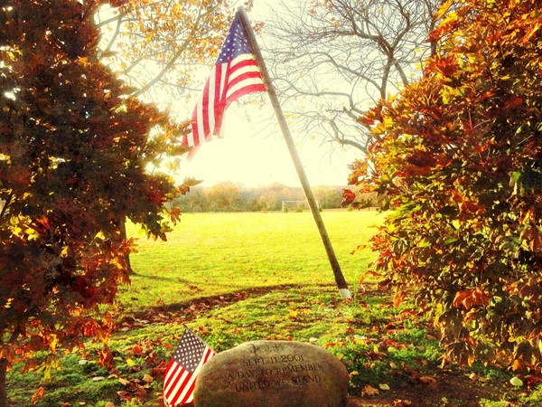 9/11 Memorial at Mansfield Park - we will never forget