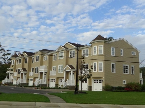 Newly built townhomes across from Old Wharf