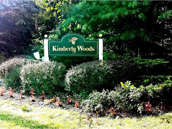 Entrance to Kimberly Woods