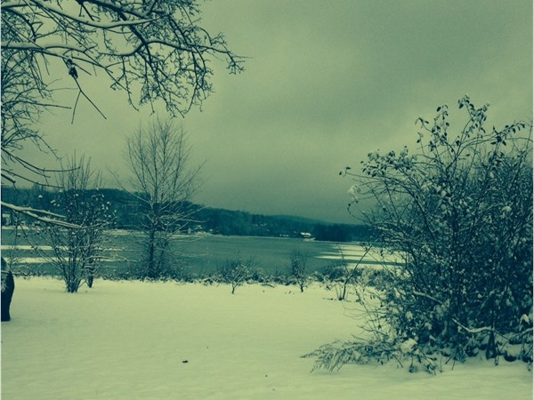 Lake Musconetcong first snow fall in December 2012