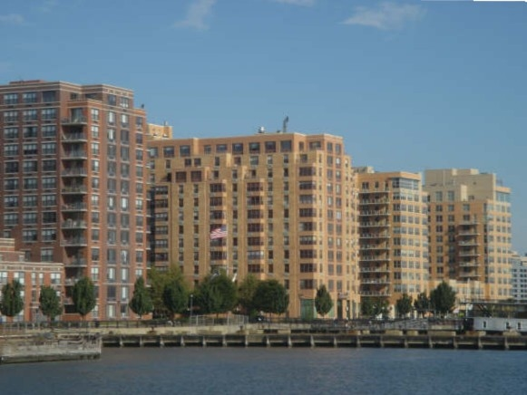 The Constitution at Shipyard & other Uptown Hoboken residential buildings, right at the river's edge