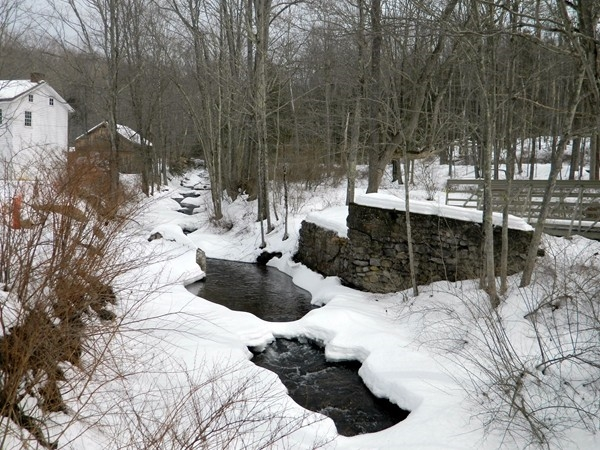 Vancampens Brook next to the gristmill