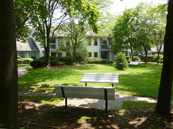 Pond Meadows has benches around the community to sit and relax