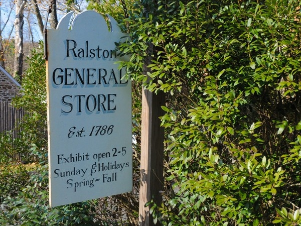 A sign leads to the Ralston General Store Exhibit
