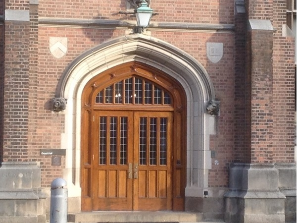 Beautiful entry into building at Princeton University