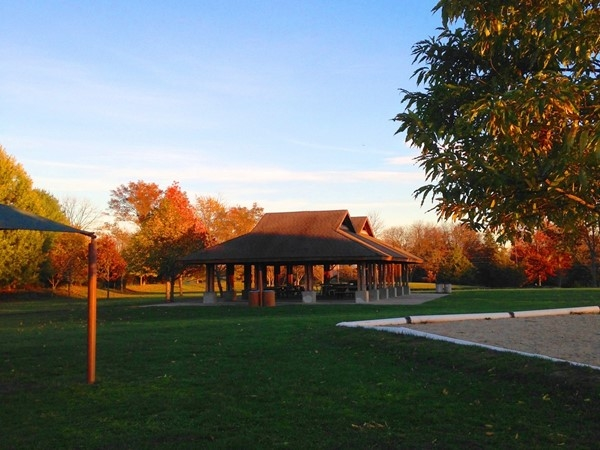 Outdoor pavilion/picnic shelter at Harry Dunham Park, Bernards Township (Basking Ridge)