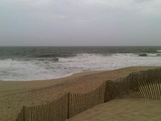 Point Pleasant Beach during Hurricane Sandy