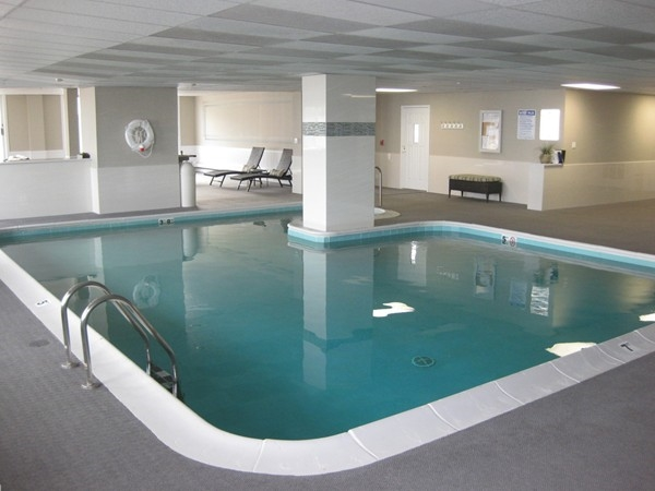 Live at the beach and enjoy the indoor pool at Harbour Mansion in Long Branch's west end