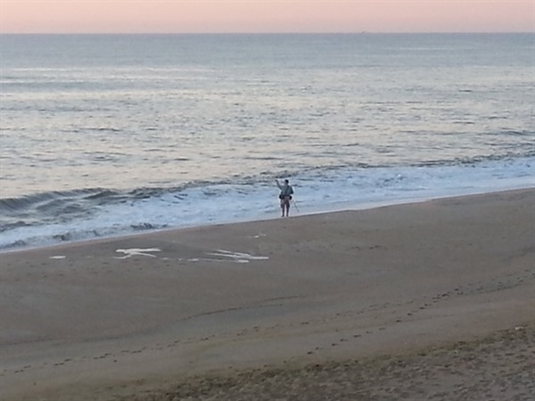 Surf fishing at dawn in west end long branch nj for Jersey shore fishing