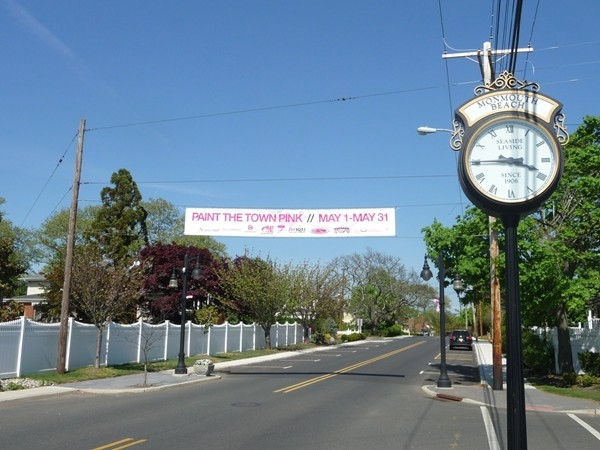 Like many towns in the area, Monmouth Beach is painting the town pink in the month of May