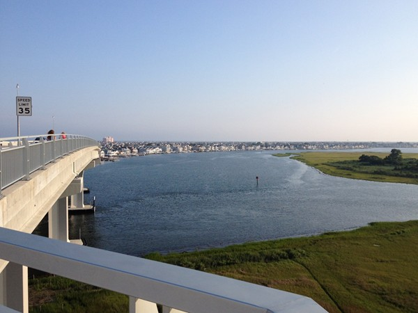 View of Ocean City from 9th Street Bridge walking path