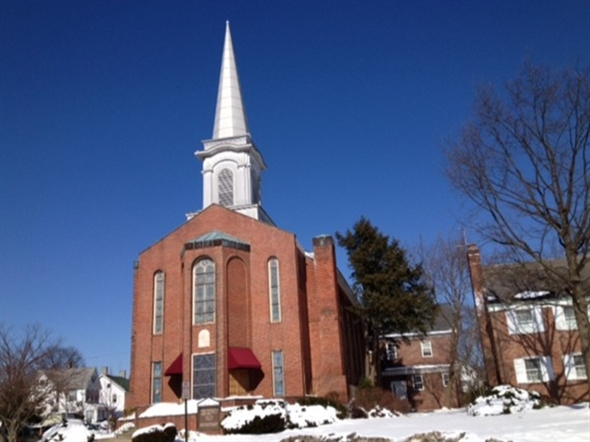 The First Baptist Church located on West High Street.