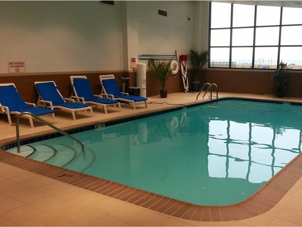 The Shores indoor pool is open 365 days a year and you can see the ocean through the windows.