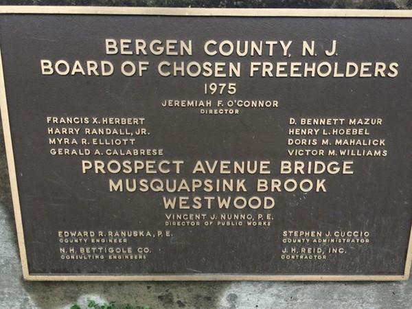 Bergen County Board of Chosen Freeholders sign