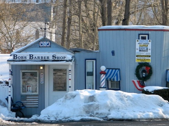 Located on Rt 46, this was orginally an information booth back in the 30s, now home to a barber shop