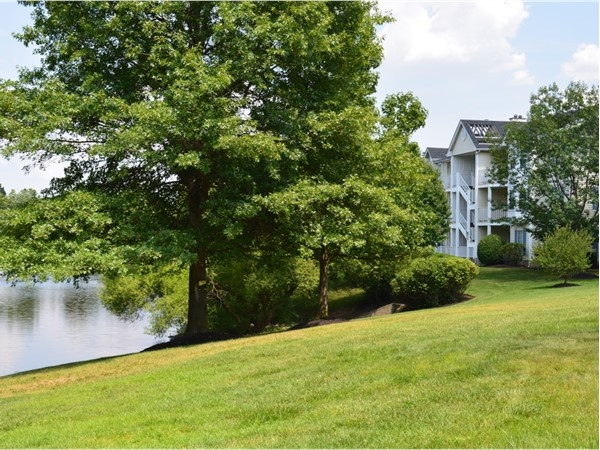 Governors Pointe 1 has spacious backyards with a fantastic lake view