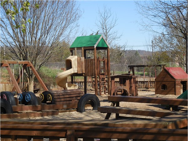 KidStreet playground with climbing activities. Much more fun at the ziplines for kids and parents