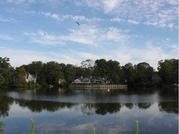 Interlaken is a peninsula with many waterfront homes on Deal Lake