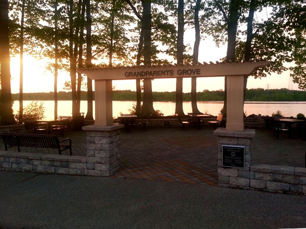 Grandparents Grove at Mercer County Park. Enjoy a picnic while watching the sunset over the lake