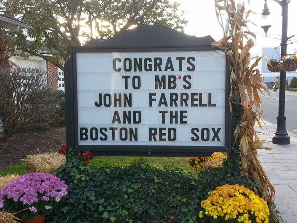 Boston Red Sox manager John Farrell is a Monmouth Beach native.