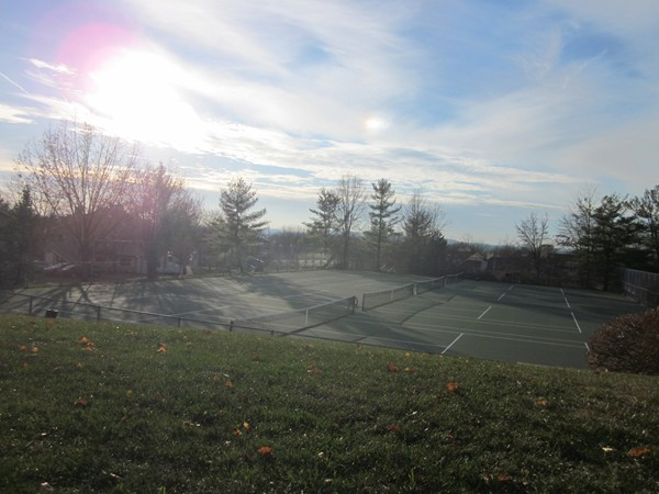 The Hills: One of several tennis courts