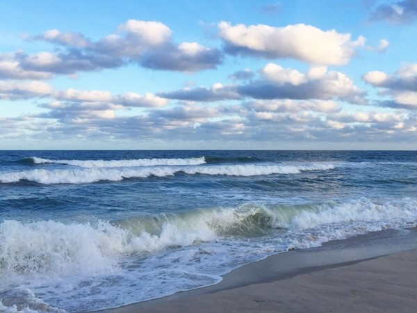 Waves coming ashore make for a relaxing moment