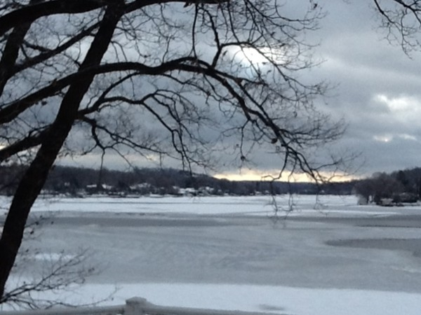 Lake starting to freeze over, soon will see ice fishing and snowmobiling.