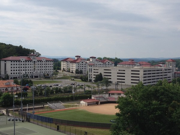 Softball field and Clove Road dorms of Montclair State University