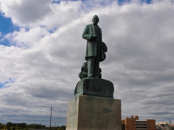 James A. Bradley statue in Asbury Park