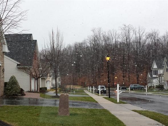 Princeton Manor on a rainy December day