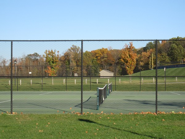 Tennis courts at Turkey Brook Park