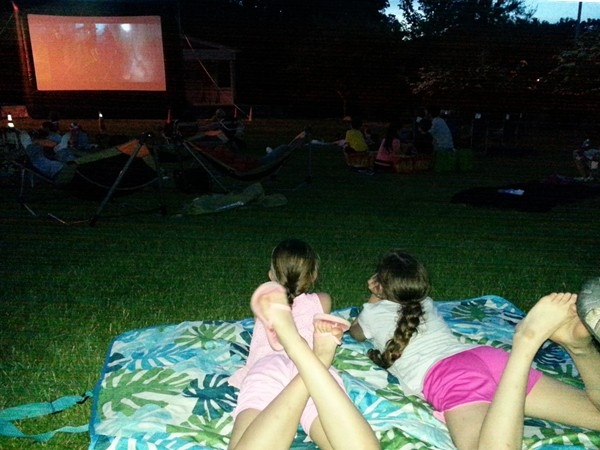 Movie Night in the Park - a great way to enjoy a sense of community