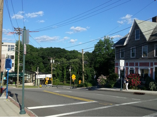 One of the streets in Fort Lee
